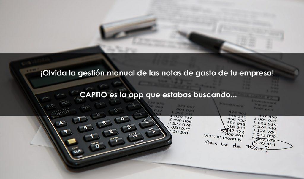 Captio, la app para gestionar las notas de gasto de tu empresa