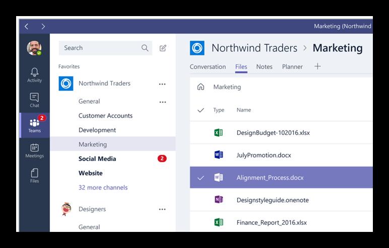 Apps integradas en Microsoft teams