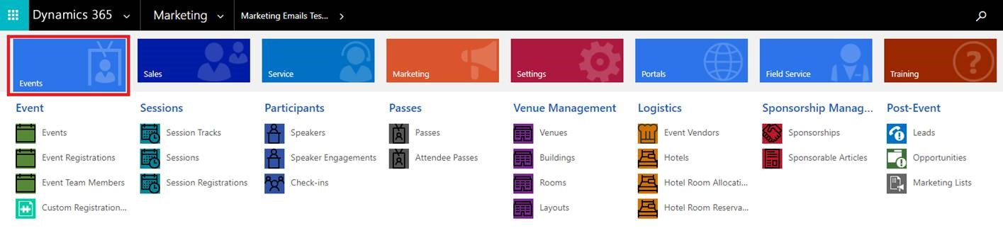 dynamics 365 for marketing events