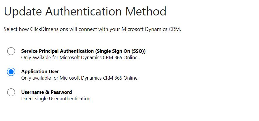 prevenir interrupción de conectividad entre ClickDimensions y Sales